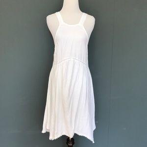 Element Eden White Eyelet Fringe Dress - Small